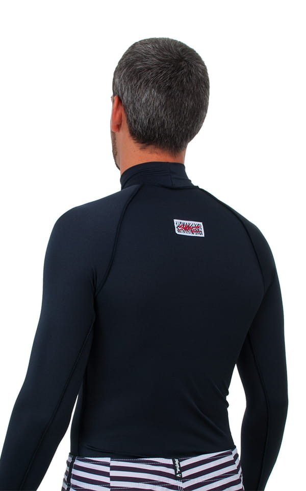 Swim Skin Rash Guard in Black Tricot nylon/lycra 3