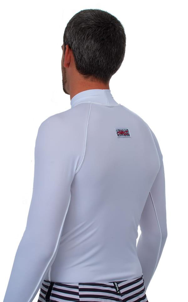Swim Skin Rash Guard in White Tricot nylon/lycra 3