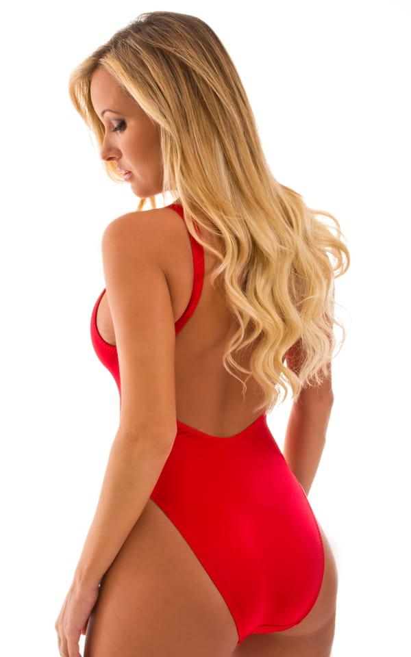 b2611791755 Baywatch One Piece Swimsuit in Lipstick Red