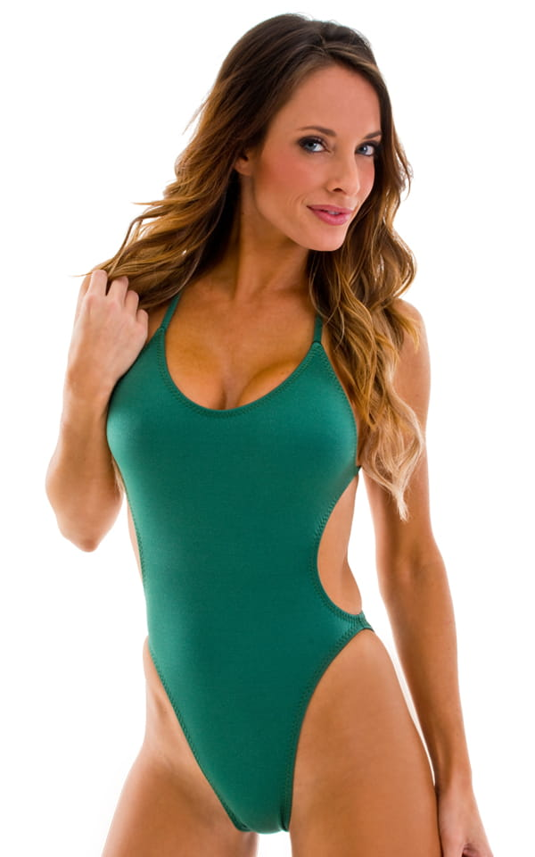 4dbf6594a Womens Bathing Suits One Piece Swimsuit Bikini Moderate Cut in Forest Green