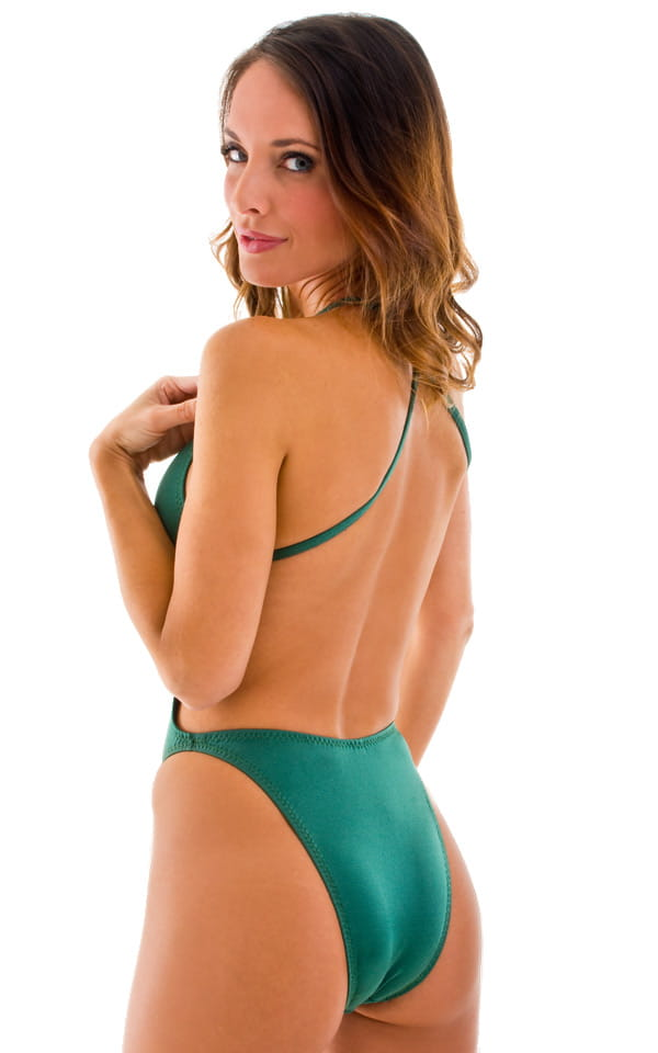 4ad2de6fe8d One Piece Swimsuit Criss Cross Moderate Cut in Forest Green