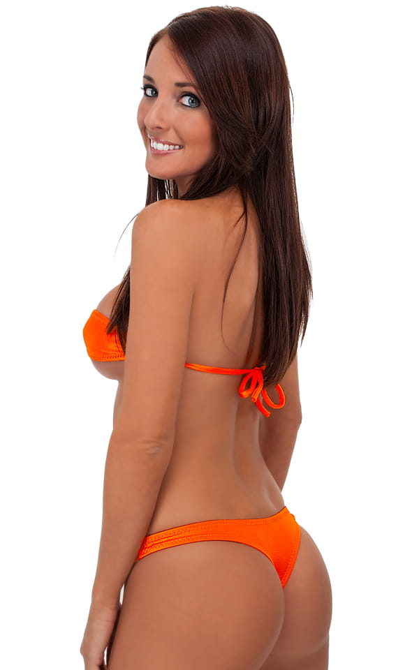 Orange thong bikini