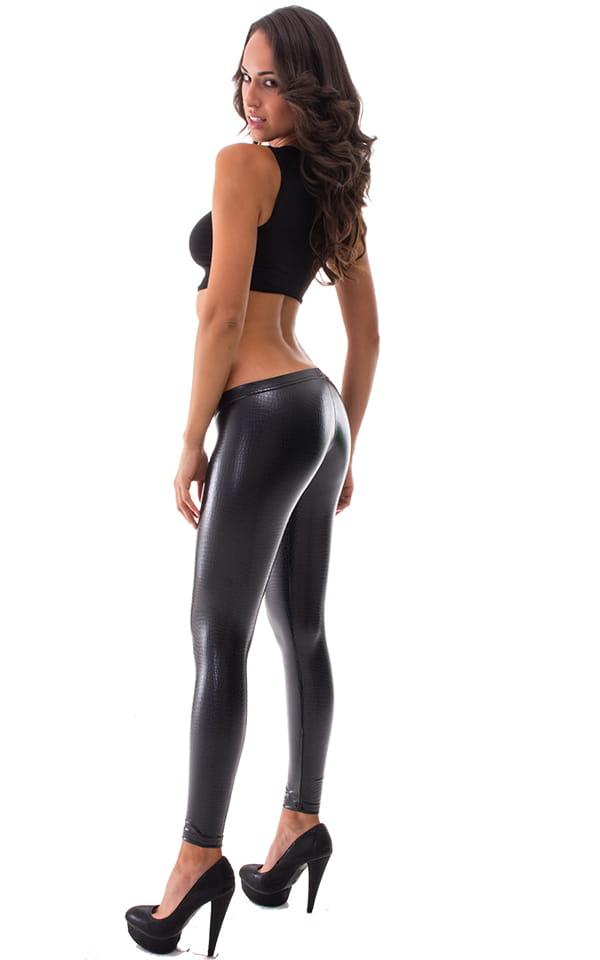 Unbranded Sexy Low Rise Leggings Stretch Yoga Lounge Capri Pants Gym Workout Black Sml