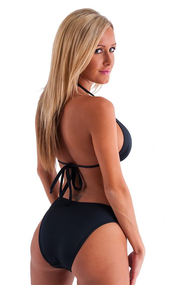 Womens Moderate High Cut Swimsuit Bottom in Black 7