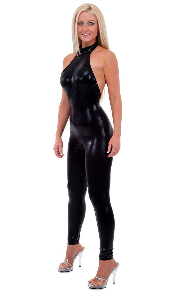 Womens Leather Catsuit Body Suit