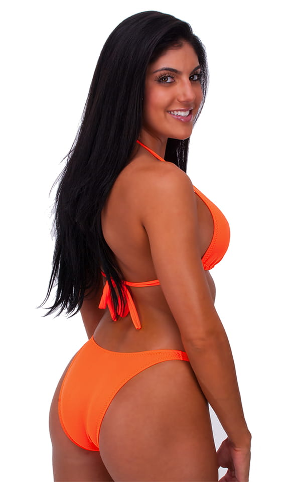 womens posing suit bodybuilder contest bikini bottom in neon orange by skinz. Black Bedroom Furniture Sets. Home Design Ideas