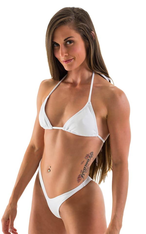 Womens Brazilian Triangle Posing Top In Optic White