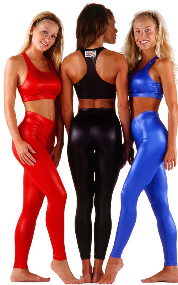 Womens Sport Top in Wet Look Lipstick Red 4