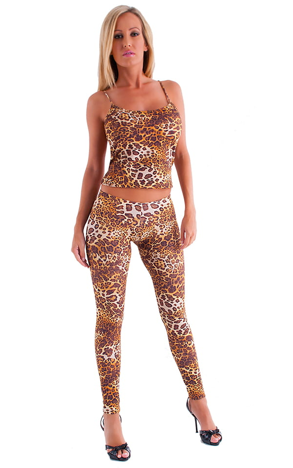 Womens Low Rise Leggings - Fashion Tights in Jungle Kat 4