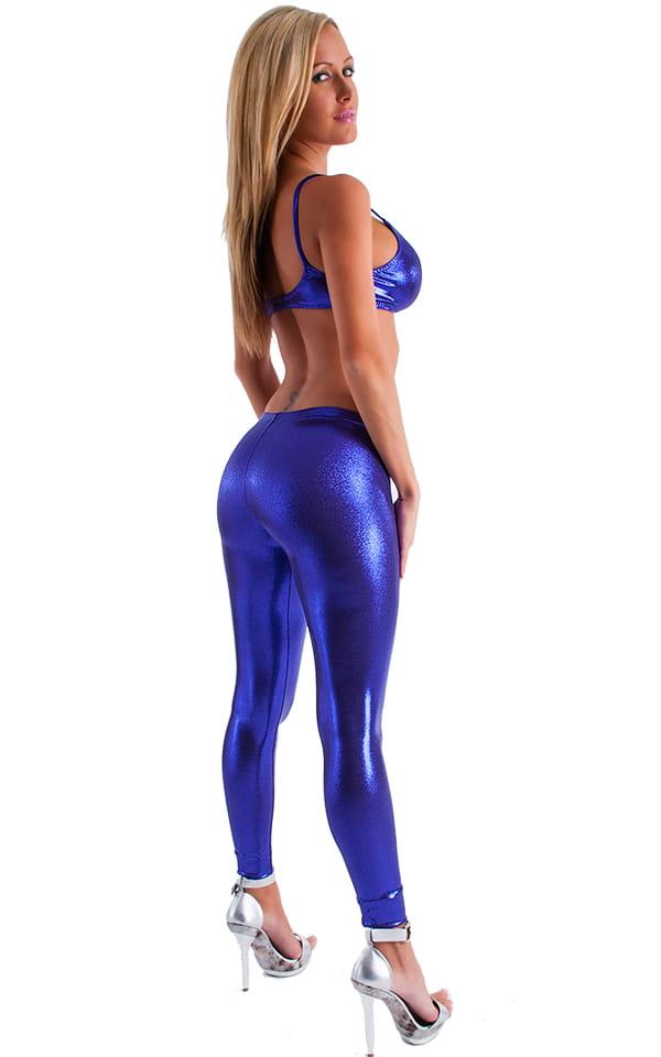 Womens Swim and Sport Fun Top in Metallic Mystique Eggplant-Purple 3