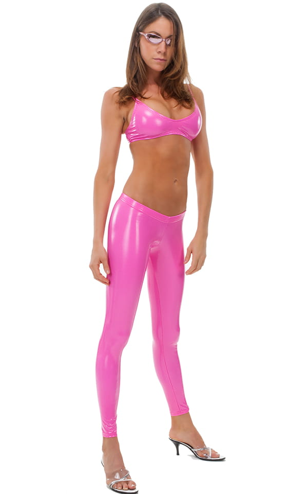 1353e7d0d312a Womens Swim and Sport Fun Top in Pink Vinyl | Skinzwear.com