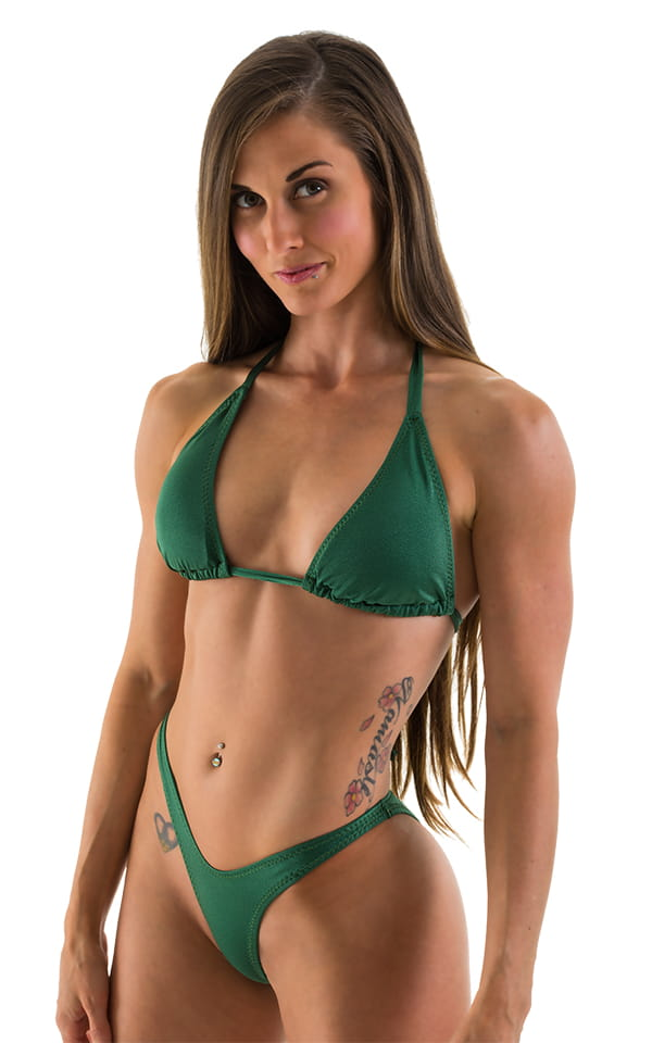 19c945b827c69 Womens Shaped Triangle Swimsuit Top in Hunter Green
