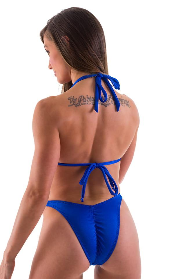 High Cut Brazilian Scrunchie Posing Suit Bottom in Royal Blue - Bikini Cut 5