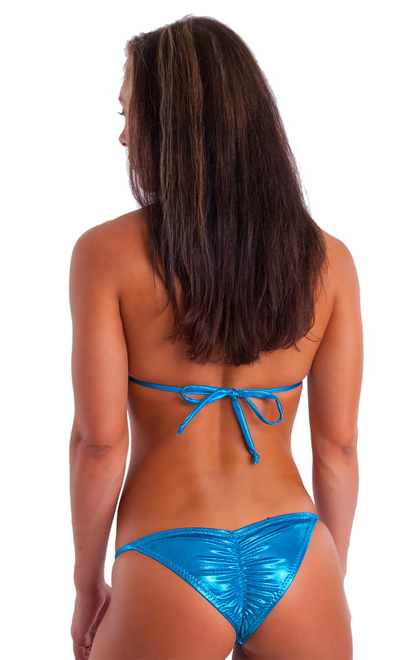 Womens NPC-IFBB Competition Bikini in Metallic Ocean Blue Mystique 3