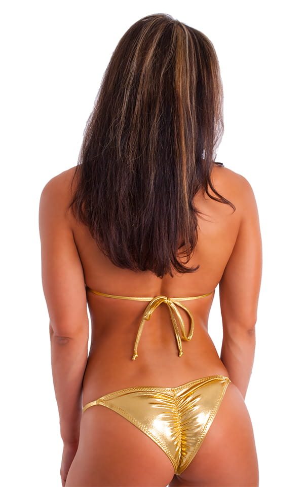 c28428472f Brazilian Pucker Butt Bikini in Metallic Mystique Gold-Gold | Skinzwear.com