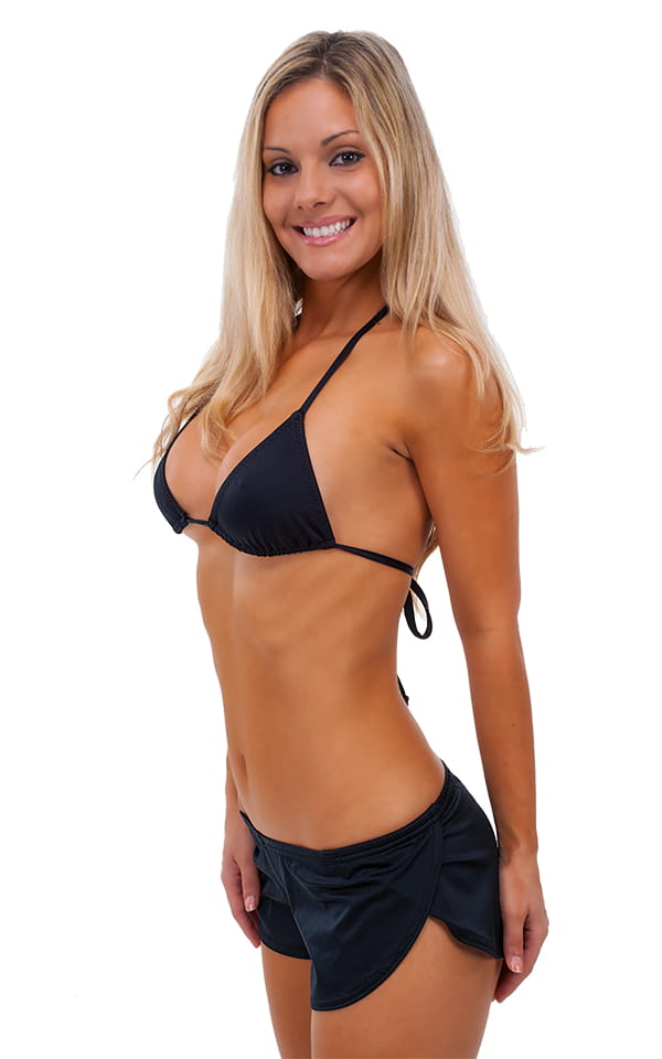81e7514584 Womens SusieQ Split Short Beach Cover-Up in Black | Skinzwear.com