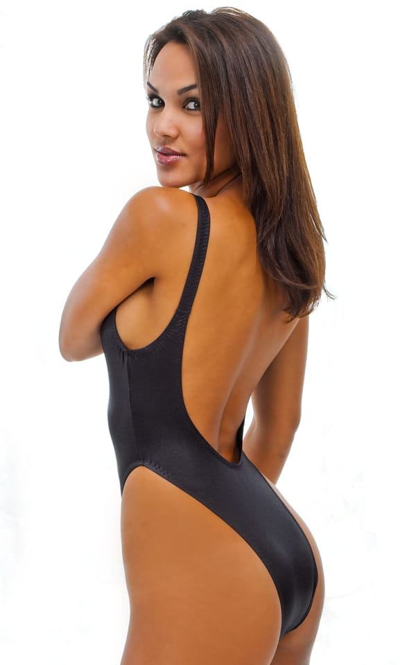 Womens Sexy One Piece Rio Swim Suit Plunging Neckline And Back