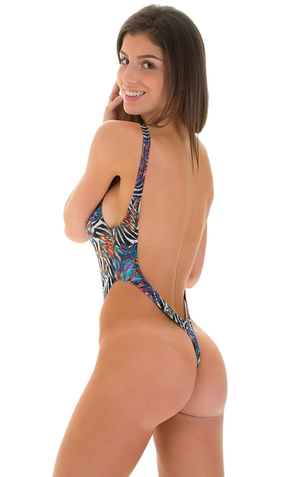 700eac04d84 One Piece Thong Swimsuit in Super ThinSKINZ Jumanji