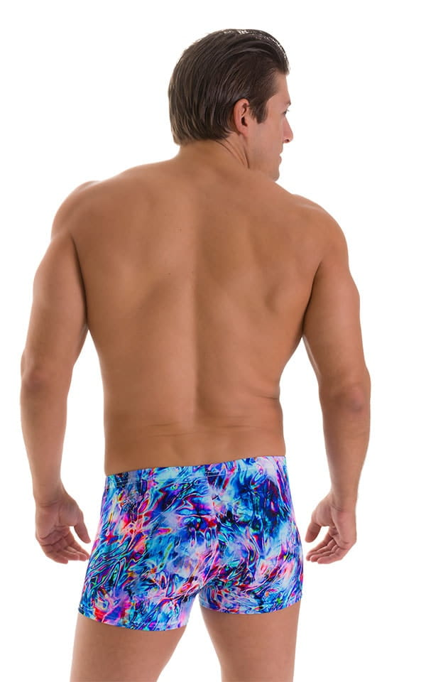 Square Cut Seamless Swim Trunks in Nebula 2