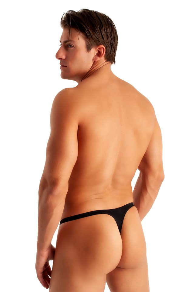 T Back Thong Swimsuit in ThinSkinz Black 2
