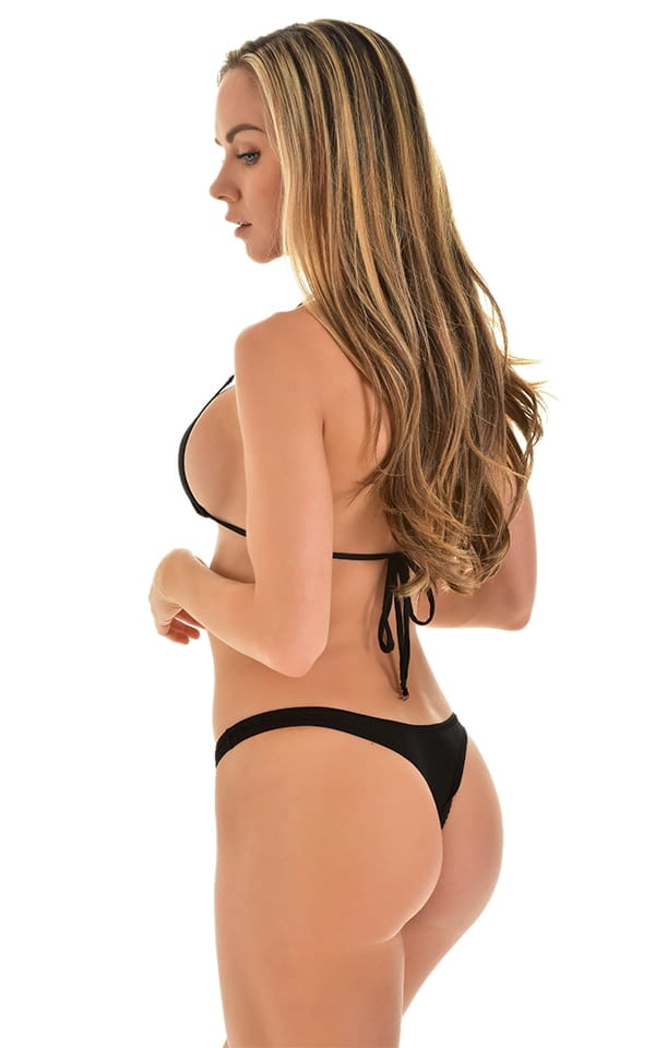 Low T Back Thong Bottom in Super ThinSKINZ Black 3