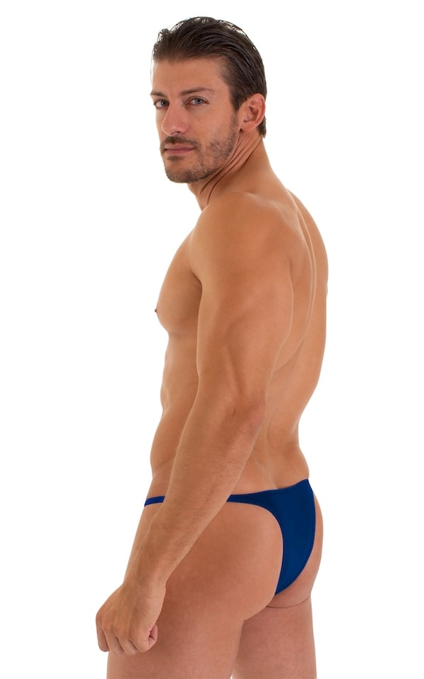 Sunseeker Micro Pouch Half Back Bikini in ThinSkinz Royal Blue 2