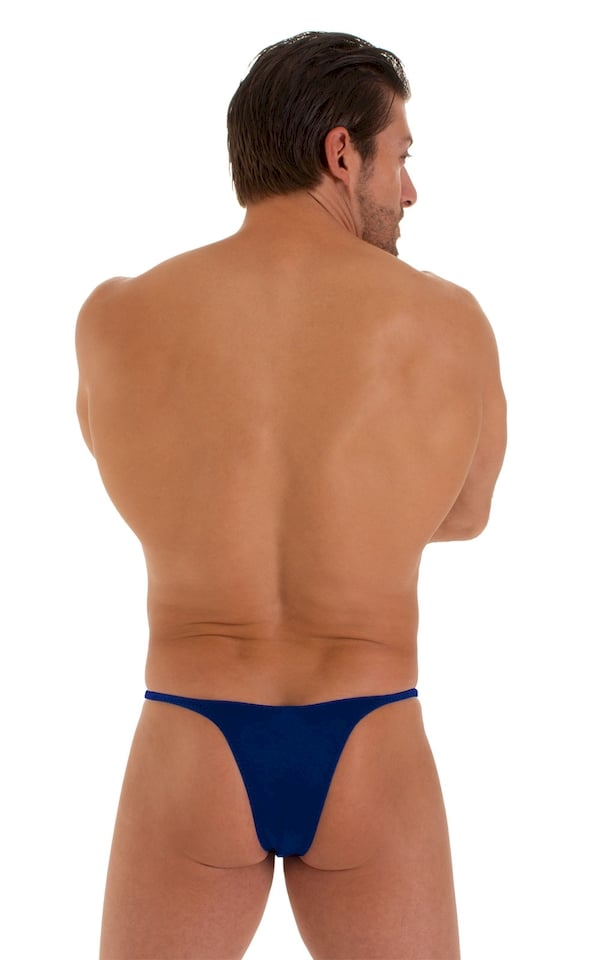 Sunseeker Micro Pouch Half Back Bikini in ThinSkinz Royal Blue 4