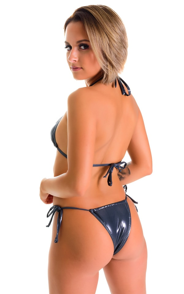 Cozumel Fully Adjustable Brazilian Tanga in Black Ice 2