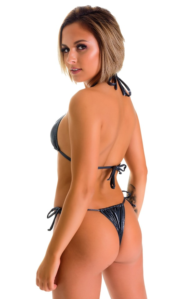 Cozumel Fully Adjustable Brazilian Tanga in Black Ice 4