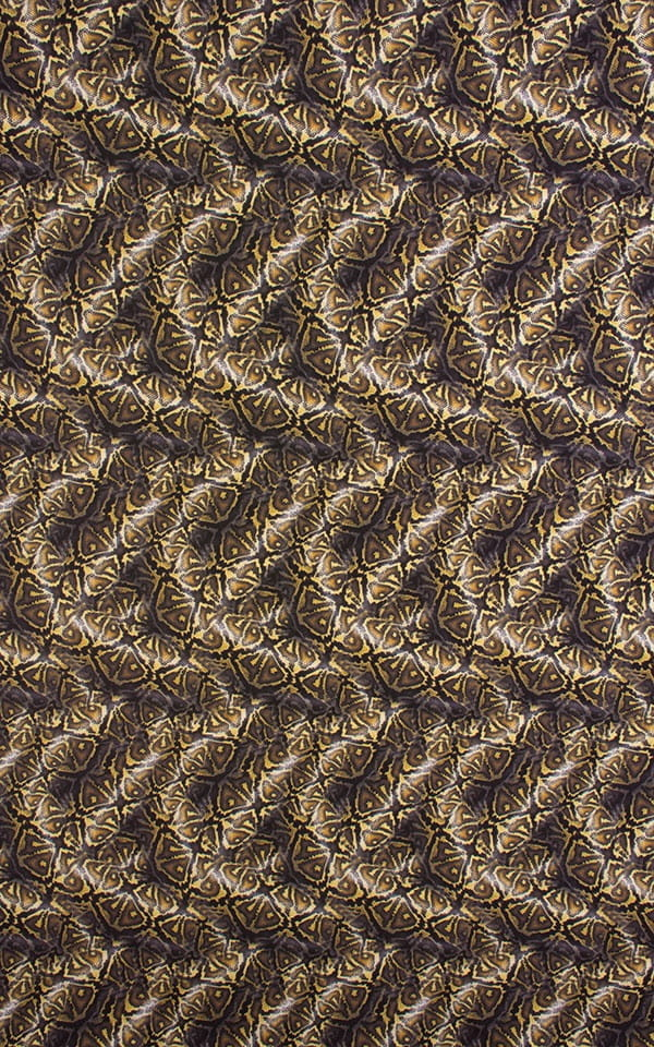 Semi Sheer Super ThinSkinz Coiled Python Fabric