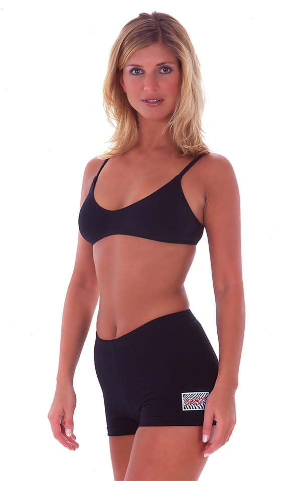 Womens Swim and Sport Fun Top in Black cotton/lycra 1