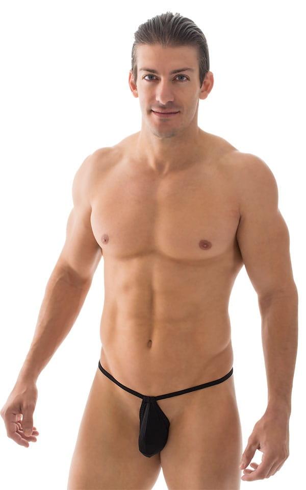 Micro Teardrop G String Swim Suit in ThinSKINZ Black 1