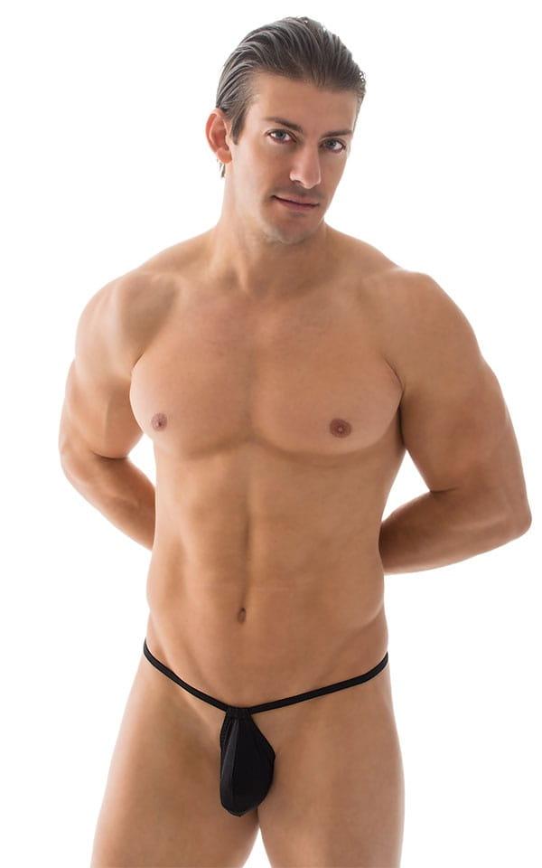Micro Teardrop G String Swim Suit in ThinSKINZ Black 4