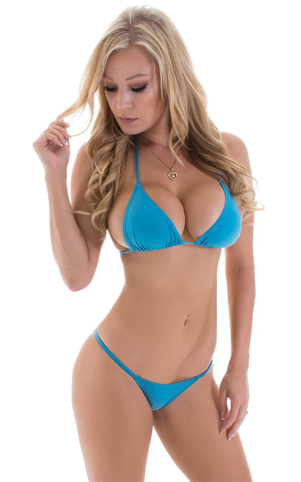 Brazilian Pucker Butt Bikini in ThinSKINZ Sapphire 4