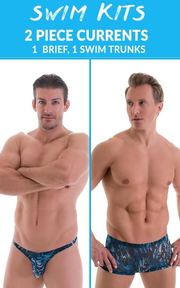 3ed102012b Mens Currents 2 Piece Swim Kit | Skinzwear.com
