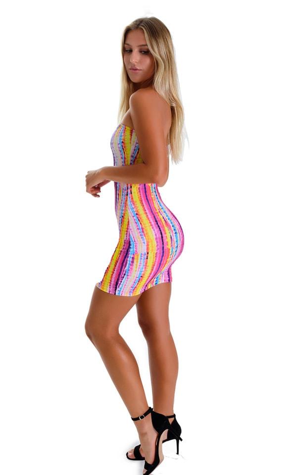 Mini Strapless Bodycon Dress in BoHo Stripe 2