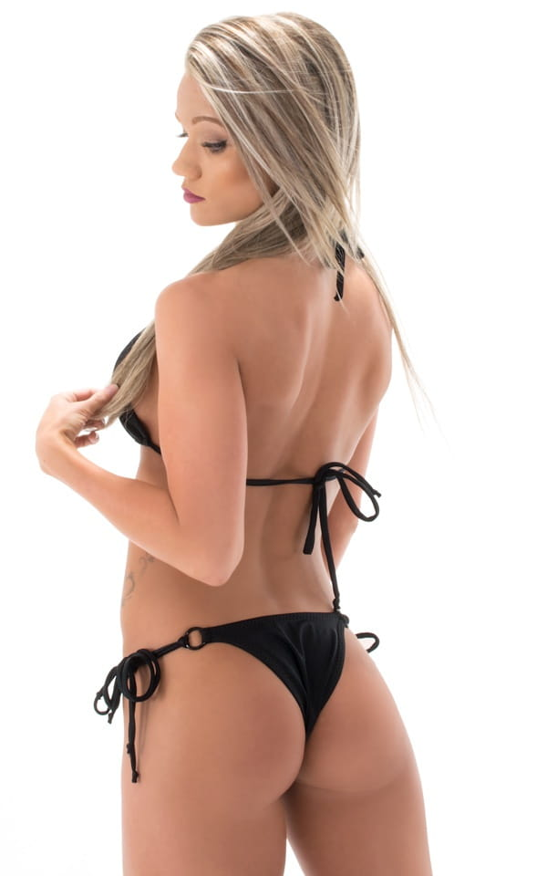 black cheeky brazilian bikini back