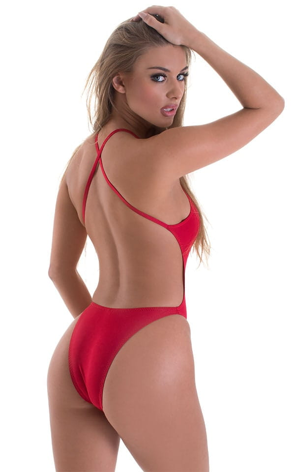 1bf9a1c059 One Piece Swimsuit Criss Cross Rio in ThinSKINZ Lipstick Red ...
