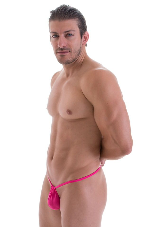 G String Swimsuit - Adjustable Pouch in ThinSKINZ Neon Pink 5