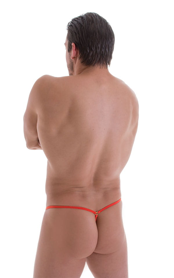 G String Swimsuit - Adjustable Pouch in ThinSKINZ Apricot 3