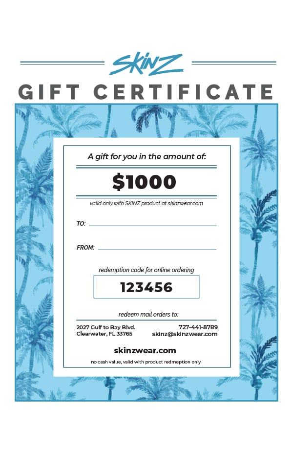 $1000 Gift Certificate 1