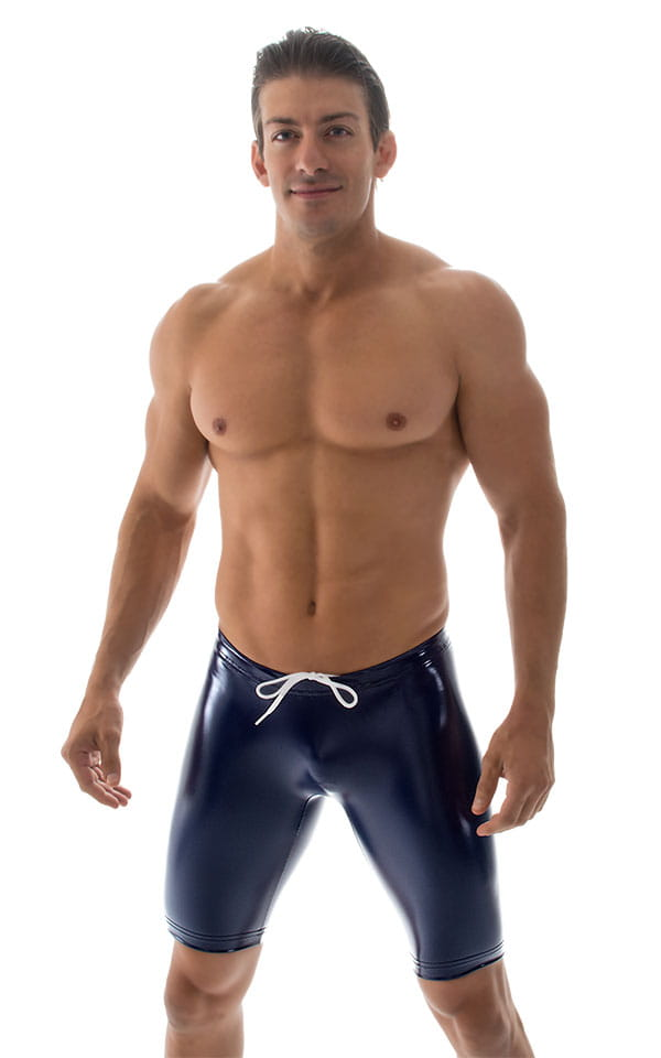 Competition Swim-Dive Jammers in Indigo Gloss Vinyl 4