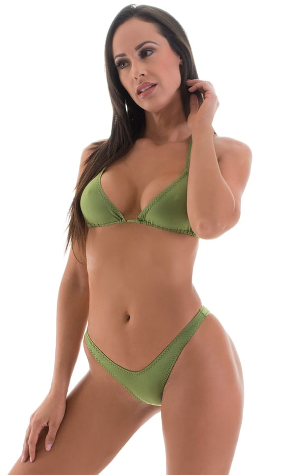 High Cut Brazilian Scrunchie Bottom in ThinSKINZ Sage 4