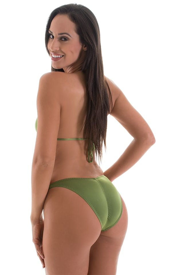 High Cut Brazilian Scrunchie Bottom in ThinSKINZ Sage 3