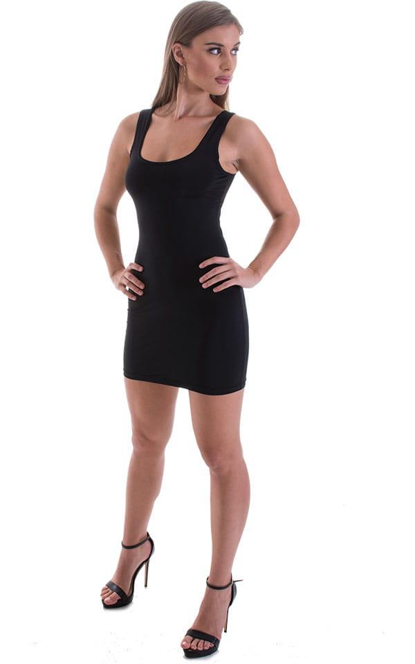 Micro Mini Dress in ThinSKINZ Black 5