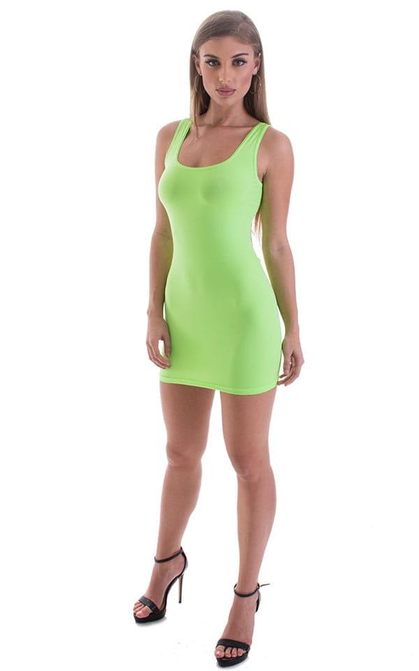 Micro Mini Dress in ThinSKINZ Neon LIme 4