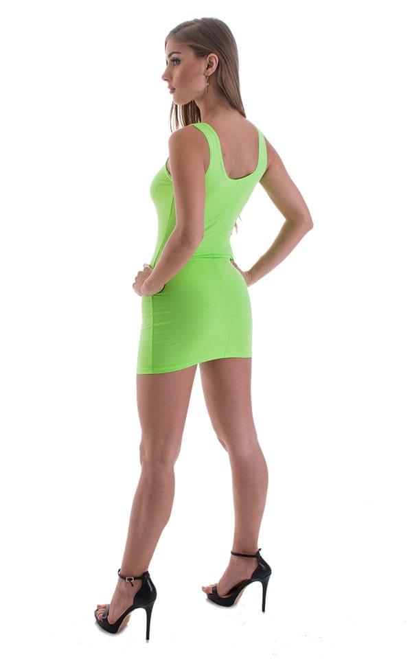 Micro Mini Dress in ThinSKINZ Neon LIme 3