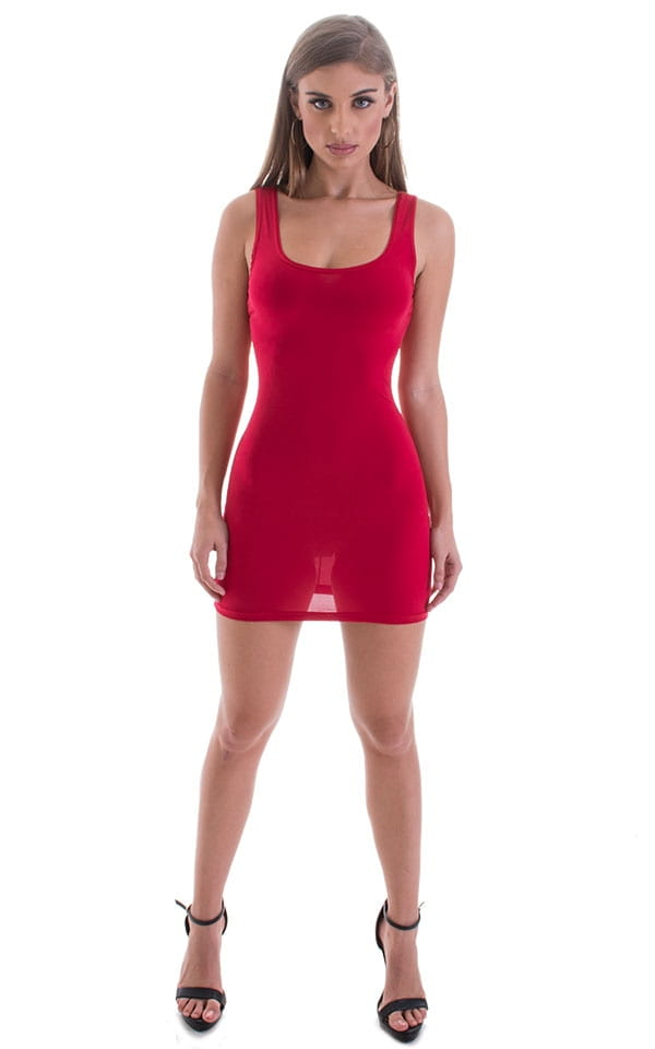 Micro Mini Dress in ThinSKINZ Red 5