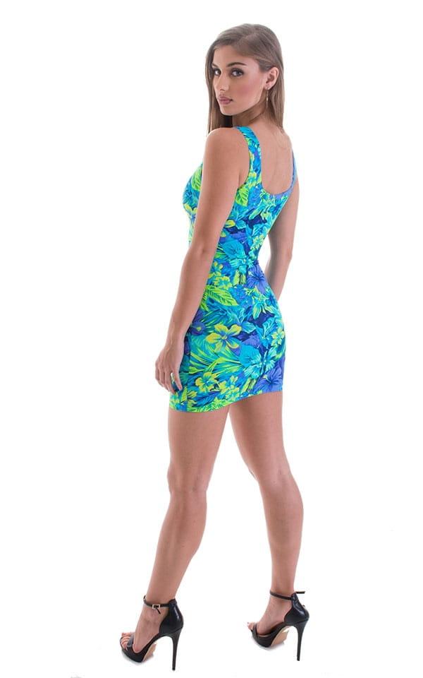 Micro Mini Dress in Tahitian Rainforest 3
