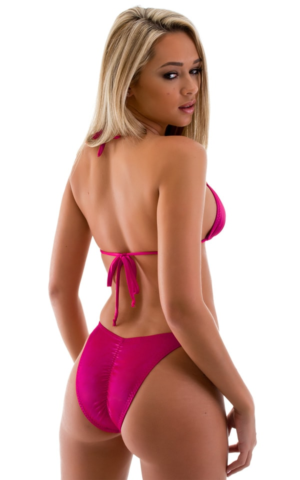 High Cut Brazilian Scrunchie Bottom in Magenta 2